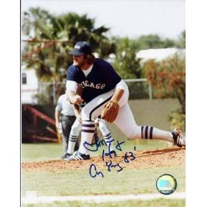 """Real Deal Memorabilia Lamarr Hoyt Autographed Chicago White Sox 8"""" x 10"""" Photograph with """"Cy Young 83"""" Inscription (Unframed)"""