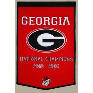 "Winning Streak Georgia Bulldogs 24"" x 36"" NCAA Football Dynasty Banner from Winning Streak Sports"