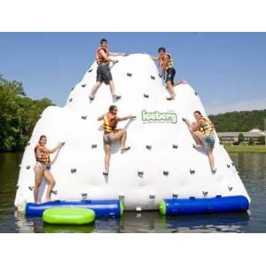 "Aviva Sports ""Iceberg"" 14' Inflatable Floating Climbing Wall and Water Slide"
