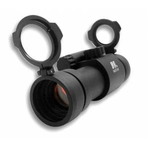 NCSTAR 1x30  Red Dot Rifle Sight with Weaver Ring and Pop Lens Cap