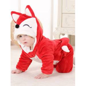 milanoo.com Toddlers Costume Halloween Kids Animal Flannel Jumpsuits