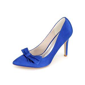 milanoo.com Amazing Bows Pointed Toe Satin Bridal Pumps