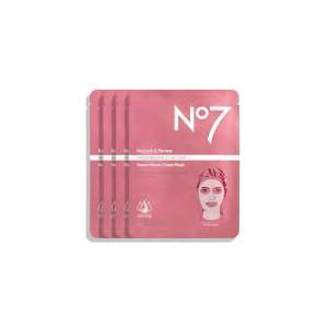 NO7 Restore & Renew Multi Action Face & Neck Serum Boost Sheet Mask (4 Pack)