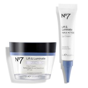 NO7 Lift & Luminate Day Cream and Eye Cream Duo ($49.98 Value)