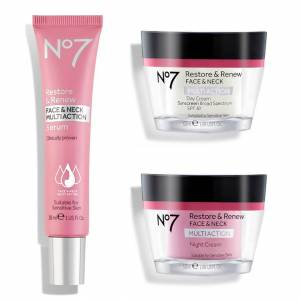 NO7 Restore & Renew Multi Action Face & Neck Skincare System
