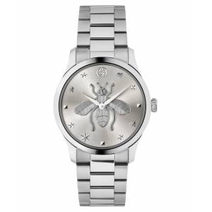 Gucci Swiss G-Timeless Stainless Steel Bracelet Watch 38mm, Created for Macy's - Stainless Steel