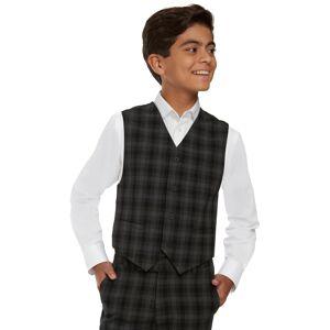Calvin Klein Big Boys Shadow Check Vest - Black