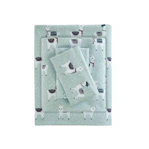 Philosophy True North by Sleep Philosophy 4-Pc. Cotton Flannel Queen Sheet Set - Seafoam
