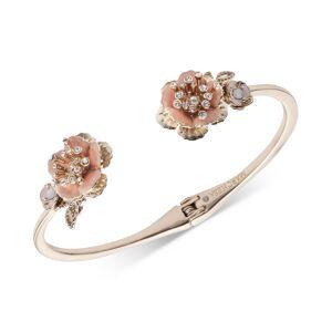 Marchesa Gold-Tone Crystal Flower Cuff Bracelet - Gold