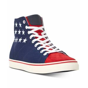 Ralph Lauren Polo Ralph Lauren Men's Solomon High Top Sneakers - Red/Navy