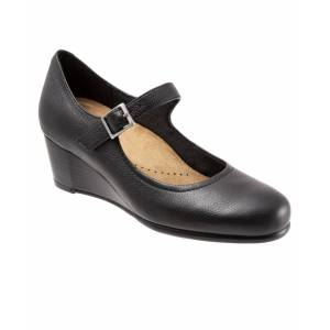 Trotters Willow Mary Jane Wedge - Black