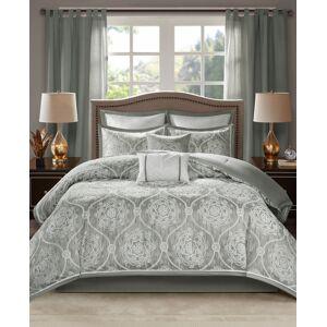 Madison Park Dora 8-Pc. Queen Comforter Set - Silver