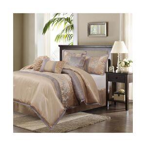 Nanshing Riley 7-Piece King Comforter Set - Sand