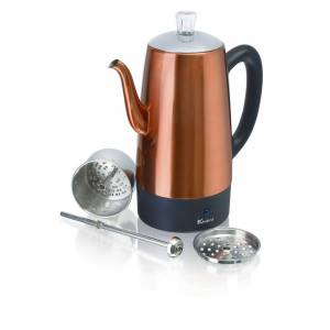 Eurocuisine Euro Cuisine PER12 Electric Percolator - 12 Cups - Copper