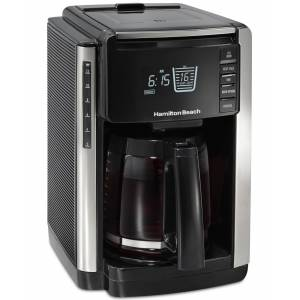 Hamilton Beach 12 Cup Trucount Programmable Coffee Maker with Built in Scale - Black