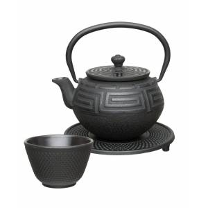BergHOFF Studio Collection 5-Pc. Cast Iron Tea Set - Black