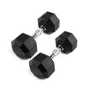 Power Systems Rubber Octagonal Dumbbell 35 lbs