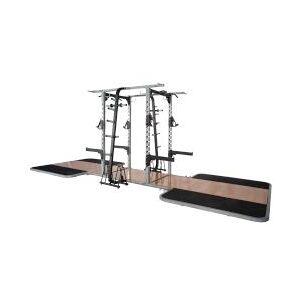 Pro Maxima PL300 Pro Double Sided Half Rack w/ 2 Oak Platforms