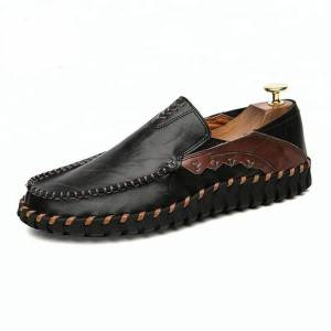 Black Men's Leather Casual Shoes  - Size: 7