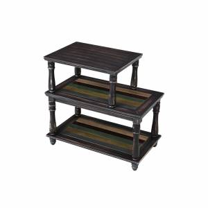 Colorful Shelf End Table
