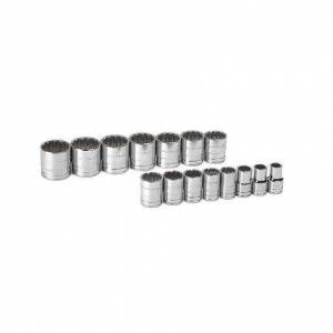"""GearWrench 15 Pc. 1/2# Drive 12 Point Standard SAE Socket Set"""""""