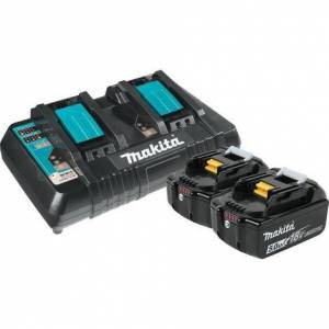 Makita 18 Volt Lxt® Lithium-Ion Battery and Dual Port Charger Starter Pack (5.0Ah)