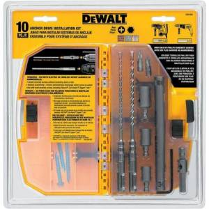 DeWalt 10 PC Anchor Drive Installation Kit
