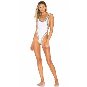Norma Kamali Stud Marissa One Piece in White. - size S (also in M,L)