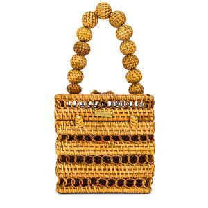 Cult Gaia Eos Top Handle Bag in Brown.