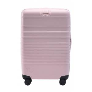 BEIS The Carry-On Roller Bag in Pink.
