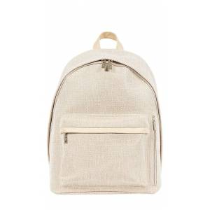 BEIS The Small Backpack in Cream.