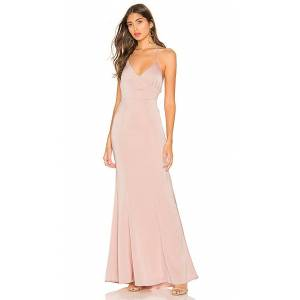 Lovers + Friends Vilailuck Gown in Blush. - size L (also in M,S)
