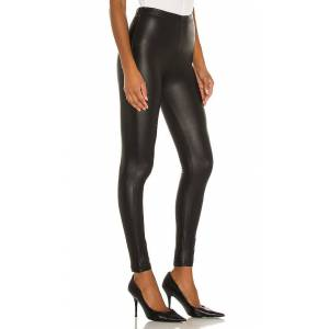 Plush Fleece Lined Liquid Legging in Black. - size L (also in M,S,XS)