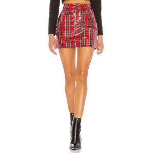 superdown Lizzie Mini Skirt in Red. - size XL (also in L,M,S,XS)