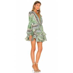 Bronx and Banco Bedouin Mini Dress in Green. - size L (also in M, S, XS)