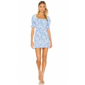 FAITHFULL THE BRAND Magnolia Mini Dress in Blue. - size XL (also in L, M, S, XS)