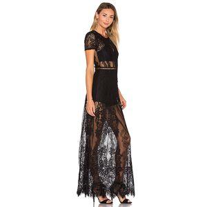 Lovers + Friends Romantic Night Dress in Black. - size S (also in M, XS)