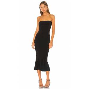 Norma Kamali Strapless Fishtail Dress in Black. - size L (also in XS, S, M)
