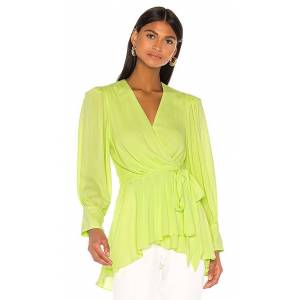 PatBO Neon Wrap Top in Green. - size M (also in XS)