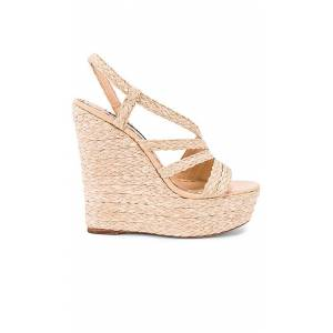 Alice + Olivia Tenley Wedge in Beige. - size 9 (also in 10,8)