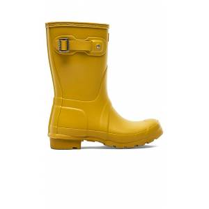 Hunter Original Short Rain Boot in Yellow. - size 8 (also in 6,9,10)