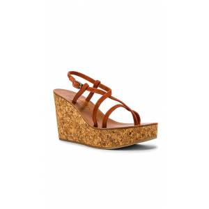 K Jacques Hera Wedge Sandal in Brown. - size 39 (also in 38,40,41)