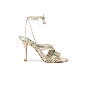 Alice + Olivia Danessa Stiletto in Metallic Gold. - size 7 (also in 5, 6)