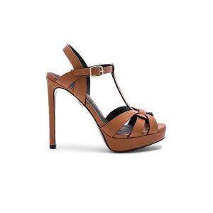 Lola Cruz Ankle Strap Heel in Brown. - size 36 (also in 37, 38)