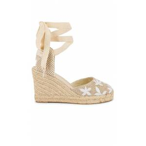 Soludos Floral Classic Wedge in Taupe. - size 6 (also in 10, 6.5, 7, 7.5, 8, 9, 9.5)