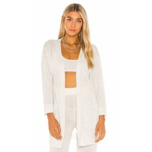 One Grey Day X REVOLVE Signy Open Kimono in Ivory. - size L (also in M, S, XS)