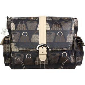 Kalencom Matte Coated Buckle Bag - Bag Lady - Stone - Diaper Messenger Bags