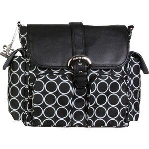 Kalencom Matte Coated Double Duty Diaper Backpack - Black Holes - Diaper Backpacks