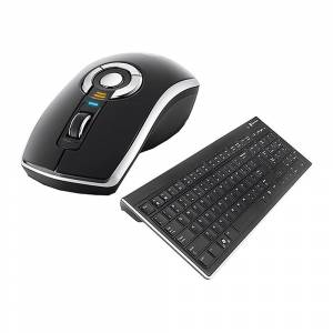 Gyration Air Mouse Elite with Low Profile Keyboard - Black - Portable Entertainment
