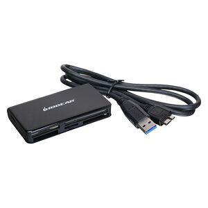 IOGEAR SuperSpeed USB 3.0 Multi-Card Reader / Writer - Black - Translators